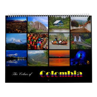 Los colores del calendario 2015 de Colombia