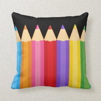 los colores del lápiz * elija su color de fondo cojin