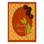 Los colores del otoño le agradecen tarjeta de felicitación