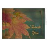 Los colores del otoño le agradecen tarjeta de nota
