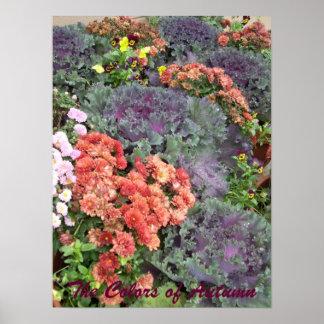 Los colores del otoño póster