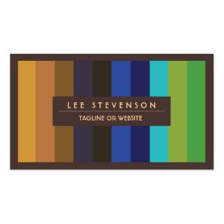 Los colores del pavo real empluman la tarjeta de tarjetas de visita