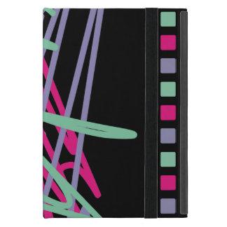 los colores del vintage de los años ochenta 80s iPad mini cobertura