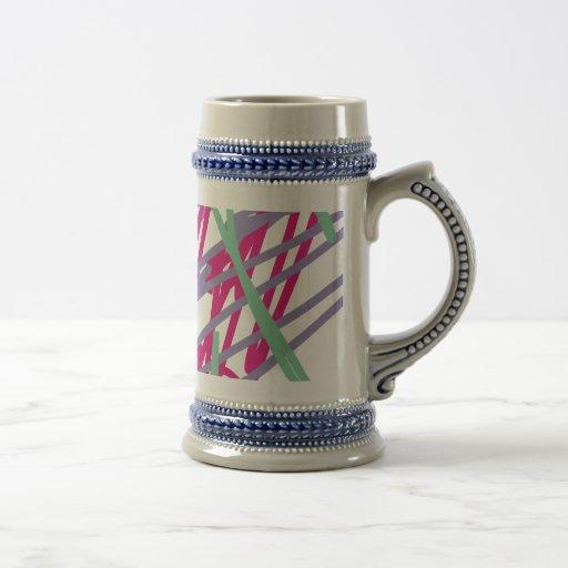 los colores del vintage de los años ochenta 80s taza de café