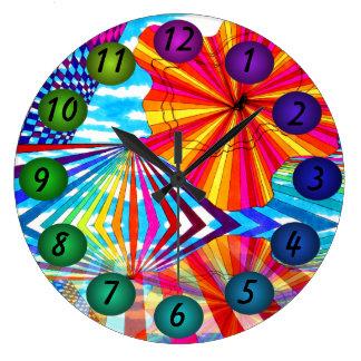 Los colores flotantes brillantes 3D diseñan el rel Relojes