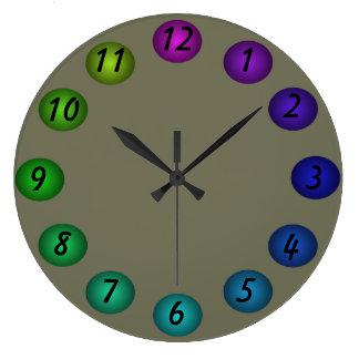 Los colores flotantes grises 3D diseñan el reloj d