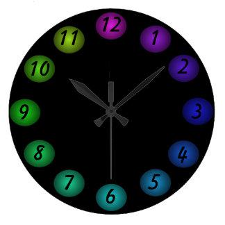 Los colores flotantes negros 3D diseñan el reloj d