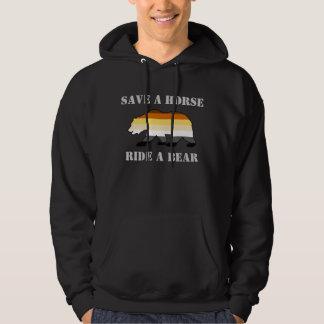 Los colores gay del orgullo del oso ahorran un sudadera encapuchada