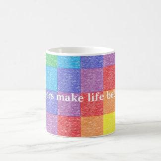 Los colores hacen vida una mejor taza del arco