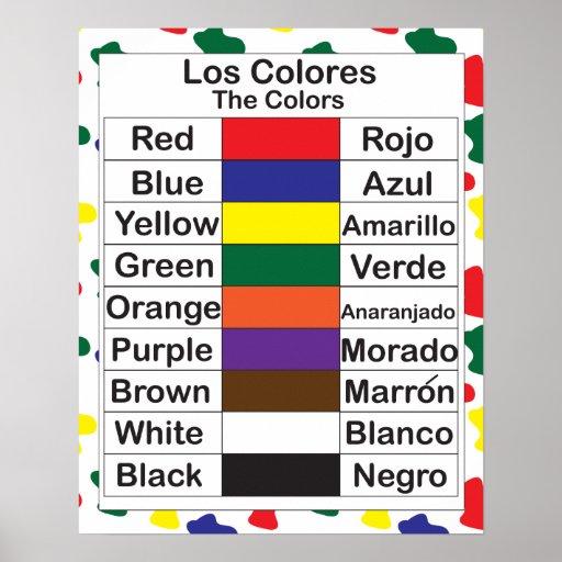 Los colores poster zazzle