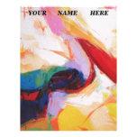 ¡Los colores primarios abstractos multicolores hac Membrete Personalizado