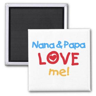 Los colores primarios Nana y la papá me aman Imán Cuadrado