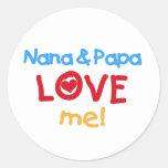 Los colores primarios Nana y la papá me aman Pegatinas