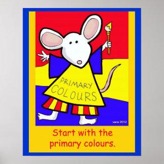 Los colores primarios póster