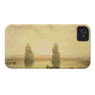 Los colosos de Memnon, en Thebes, durante el Inund Carcasa Para iPhone 4 De Case-Mate