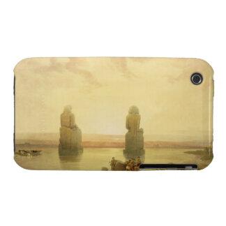 Los colosos de Memnon, en Thebes, durante el Inund Funda Para iPhone 3 De Case-Mate