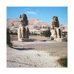 Los colosos de Memnon, estatuas de Amenhotep Impresion De Lienzo