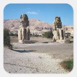 Los colosos de Memnon, estatuas de Amenhotep Pegatina Cuadrada