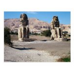 Los colosos de Memnon, estatuas de Amenhotep Postales
