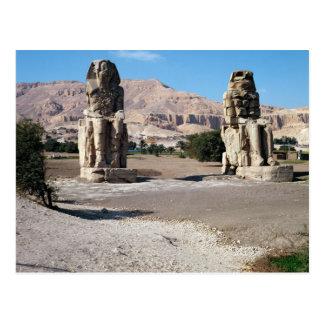 Los colosos de Memnon, estatuas de Amenhotep Postal