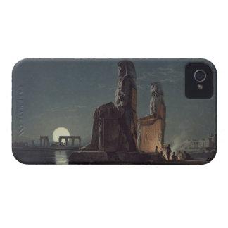 Los colosos de Memnon, Thebes, uno de 24 illustrat Funda Para iPhone 4 De Case-Mate