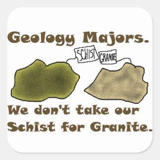 Los comandantes de la geología no toman nuestro pegatina cuadrada