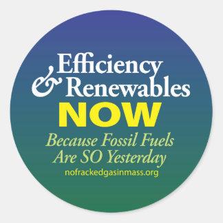 Los combustibles fósiles son tan ayer hoja de pegatina redonda