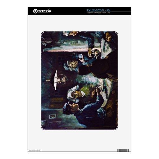 Los comedores de la patata de Vincent van Gogh Calcomanías Para El iPad