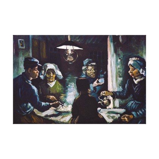 Los comedores de la patata de Vincent van Gogh Lona Envuelta Para Galerias