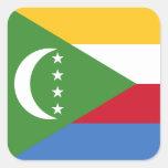 Los Comoro/bandera de Comoran Calcomanía Cuadradas