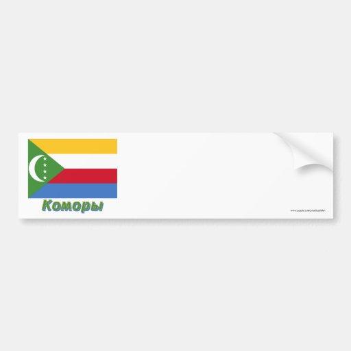 Los Comoro señalan por medio de una bandera con no Etiqueta De Parachoque