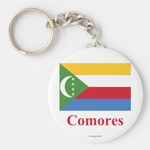 Los Comoro señalan por medio de una bandera con no Llaveros