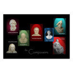 Los compositores 36 x 24 posters
