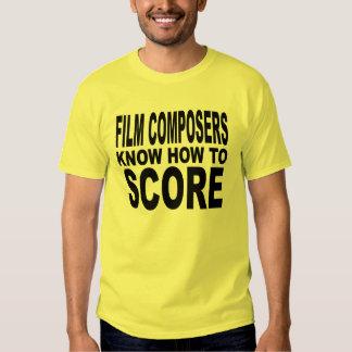 Los compositores de la película saben anotar playera