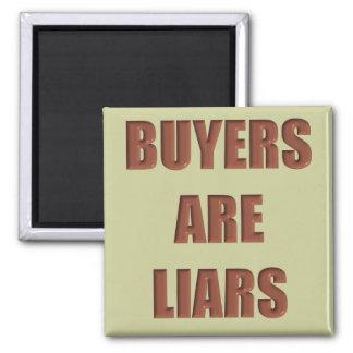 Los compradores son mentirosos imanes