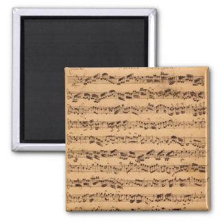 Los conciertos de Brandenburger, No.5 D-Dur, 1721 Imán Cuadrado