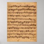 Los conciertos de Brandenburger, No.5 D-Dur, 1721 Posters