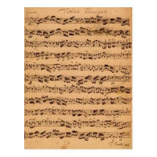 Los conciertos de Brandenburger, No.5 D-Dur, 1721 Postales
