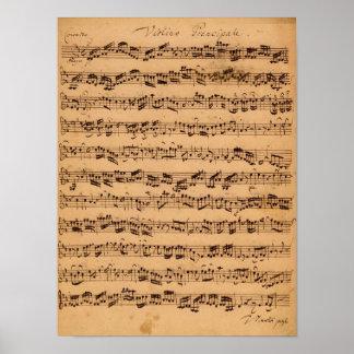 Los conciertos de Brandenburger, No.5 D-Dur, 1721 Póster