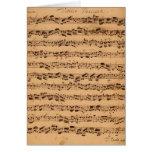 Los conciertos de Brandenburger, No.5 D-Dur, 1721 Tarjeta De Felicitación