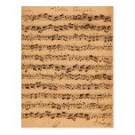 Los conciertos de Brandenburger, No.5 D-Dur, 1721 Postal