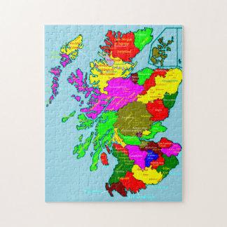 Los condados y los clanes de Escocia Puzzle Con Fotos