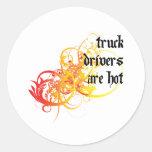 Los conductores de camión son calientes pegatinas redondas