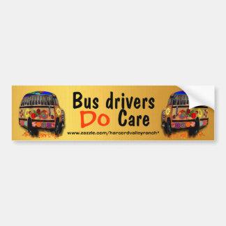 Los conductores del autobús cuidan pegatina para auto