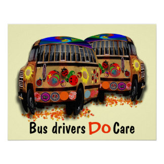 Los conductores del autobús cuidan póster