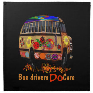 Los conductores del autobús cuidan servilleta