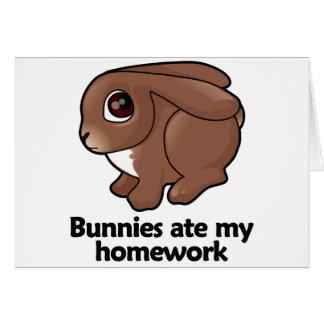 Los conejitos comieron mi preparación felicitaciones