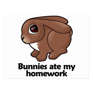Los conejitos comieron mi preparación postales