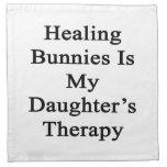 Los conejitos curativos son la terapia de mi hija servilletas imprimidas