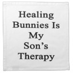 Los conejitos curativos son la terapia de mi hijo servilleta de papel
